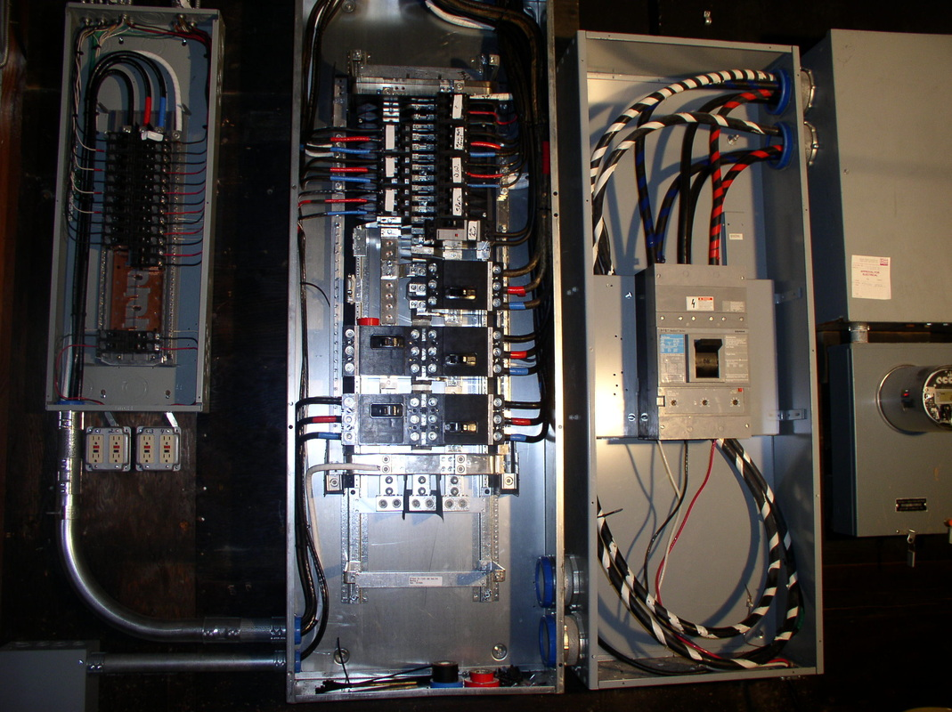 Single Phase Service : Wiring diagram for  phase panel three